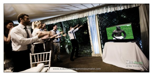Italy vs Germany 2-1, Wedding Reception.